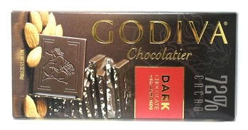 Godiva Dark Chocolate Bar with Almonds