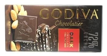 Godiva Dark Chocolate Bar with Almonds