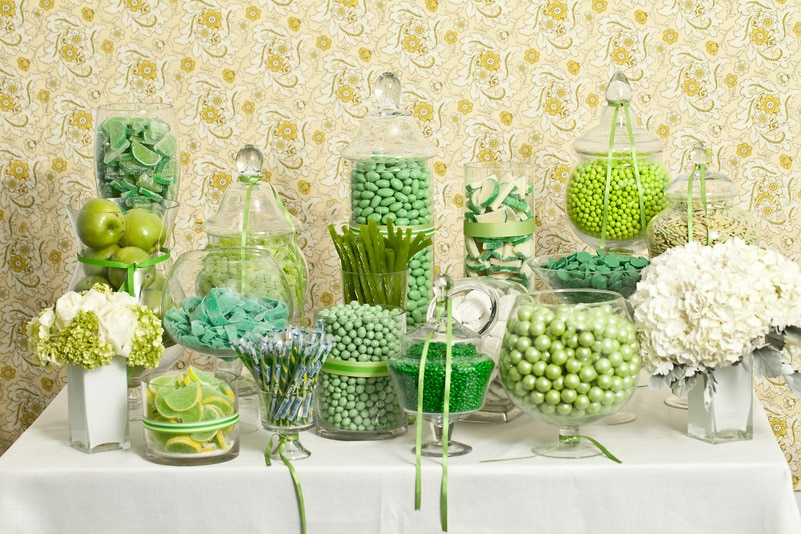 Green Candy Buffet Candy Buffets Wedding Candy Nuts Com